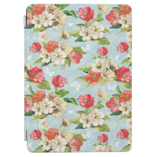 Elegance beige and red flowers pattern iPad air cover