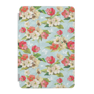 Elegance beige and red flowers pattern iPad mini cover