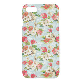 Elegance beige and red flowers pattern iPhone 8/7 case