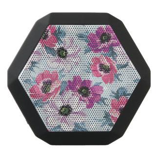 Elegance color flowers pattern on blue black boombot rex bluetooth speaker
