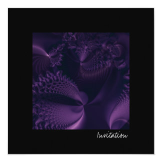 Elegance II · Fractal Art · Purple & Black Card