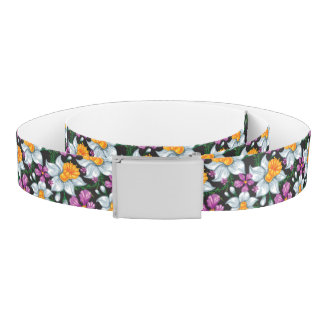 Elegance pattern with narcissus flowers 2 belt