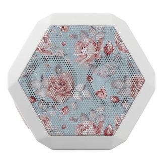 Elegance wallpaper pattern of pink roses 2 white boombot rex bluetooth speaker