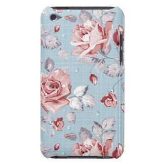 Elegance wallpaper pattern of pink roses 2 iPod touch covers