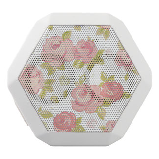 Elegance wallpaper pattern of pink roses 3 white boombot rex bluetooth speaker