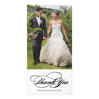 Elegance | Wedding Thank You Photo Card