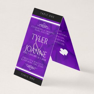 Elegant 12th Silk Wedding Anniversary Table Card