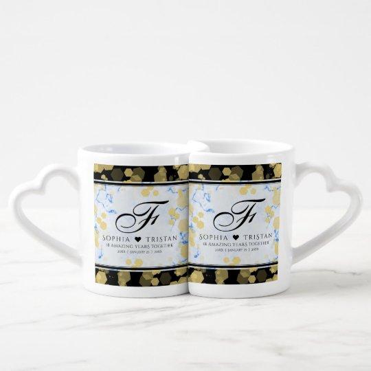 Elegant 18th Coffee Mug Set