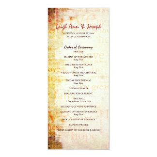 Elegant 1 Corinthians 13 Wedding Program Custom Announcements