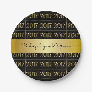 Elegant 2017 Personalised Graduation 7 Inch Paper Plate