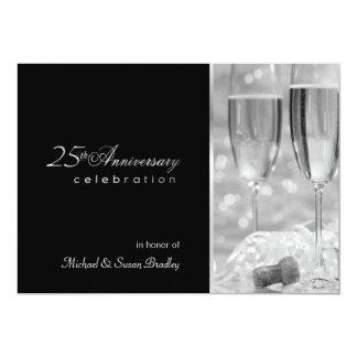Elegant 25th Anniversary Party Invitation