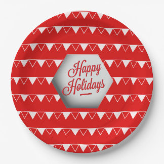 Elegant 3D Holidays Paper Plate 9 Inch Paper Plate