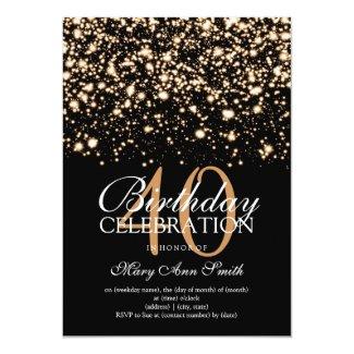 Elegant 40th Birthday Party Gold Midnight Glam
