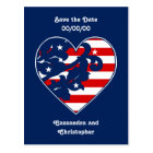 Elegant 4th of July damask save the date Postcard