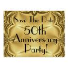 Elegant 50th Anniversary Save The Date Postcards