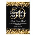Elegant 50th Birthday Party Sparkles Gold Card