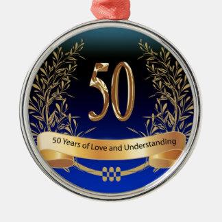 Elegant 50th Wedding Anniversary Gifts Christmas Ornament