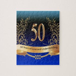 Elegant 50th Wedding Anniversary Gifts Jigsaw Puzzle