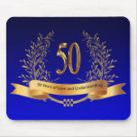 Elegant 50th Wedding Anniversary Gifts Mouse Pads