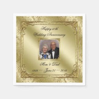 Elegant 50th Wedding Anniversary Paper Napkin