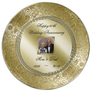 Elegant 50th Wedding Anniversary Photo Plate