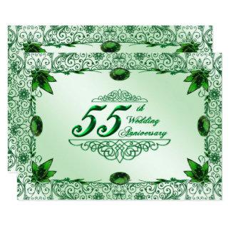 Elegant 55th Wedding Anniversary 4.5x6.25 Invite