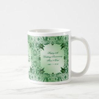 Elegant 55th Wedding Anniversary Coffee Mug