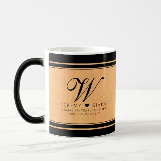 Elegant 5th wedding anniversary mug