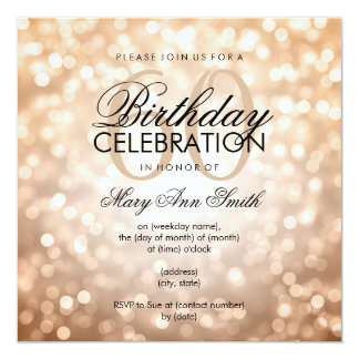 60th Birthday Invitations & Announcements | Zazzle.co.uk