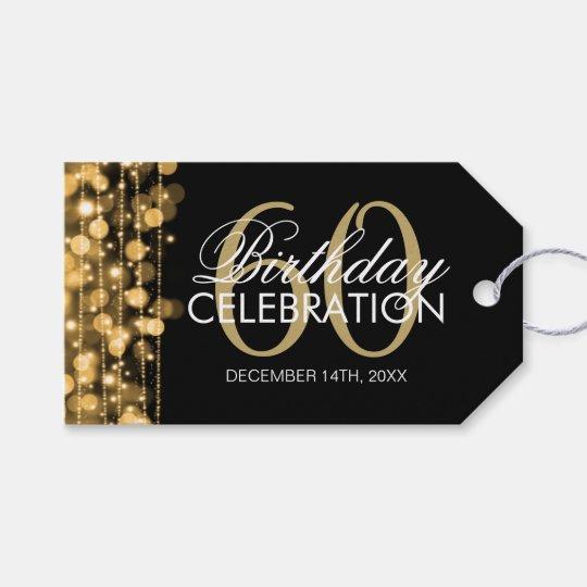 Elegant 60th Birthday Party Sparkles Gold