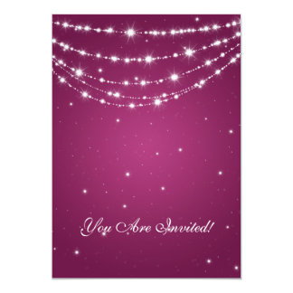 Elegant 60th Birthday Party Sparkling Chain Berry Card