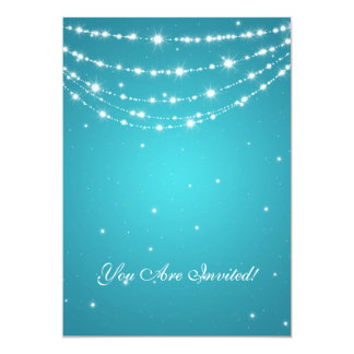 Elegant 60th Birthday Party Sparkling Chain Blue Card