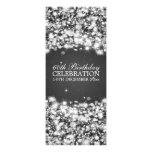 Elegant 60th Birthday Party Star Sparkle Black Custom Invite