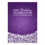 Elegant 60th Birthday Party Star Sparkle Purple