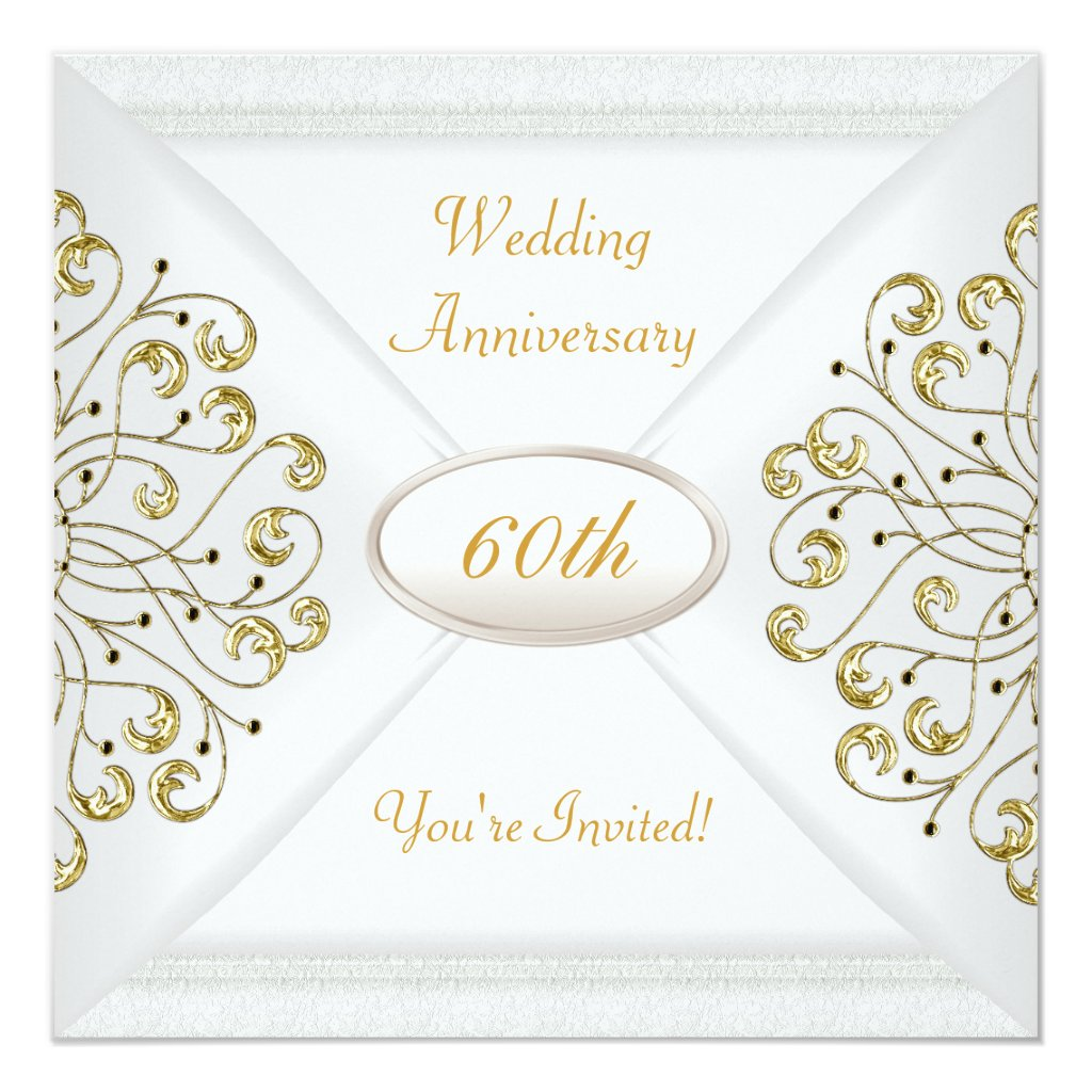 Elegant 60th Wedding Anniversary White Gold