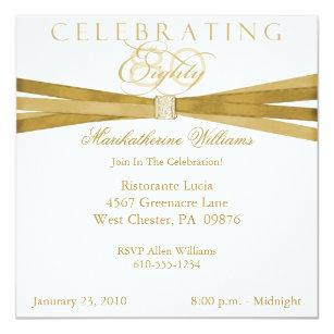 80 birthday party invitations