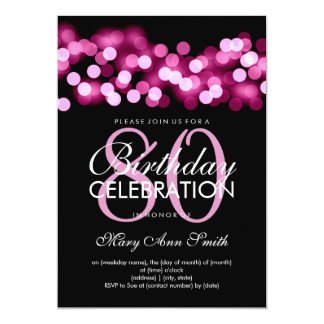 Elegant 80th Birthday Party Pink Hollywood Glam Card