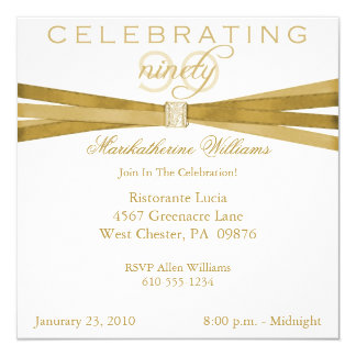 Elegant 90th Birthday Party Invitations