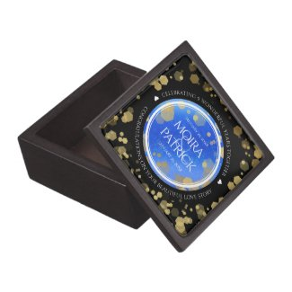 Elegant 9th Lapis Lazuli Wedding Anniversary Gift Box