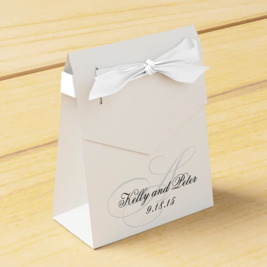 Elegant A Monogram Wedding Favour Boxes