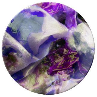 Elegant Abstract Artful Purple Plate