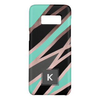 elegant abstract faux rose gold black grey mint Case-Mate samsung galaxy s8 case