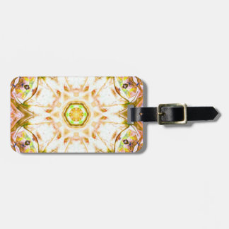 elegant abstract flower design pattern chic yoga luggage tag