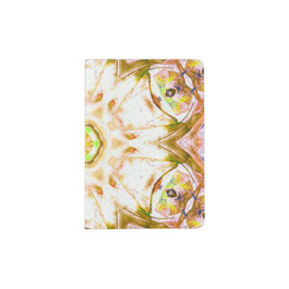 elegant abstract flower design pattern chic yoga passport holder