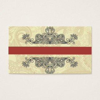 elegant abstract formal style business card temp