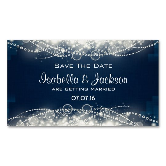 Elegant Abstract Lace and Pearls Save The Date