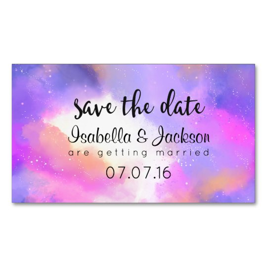 Elegant Abstract Pastel Watercolors Save The Date Magnetic