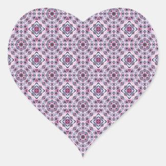 Elegant Abstract Pattern Heart Sticker