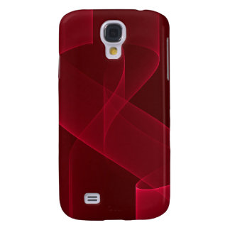 Elegant Abstract Red Ribbon Galaxy S4 Case
