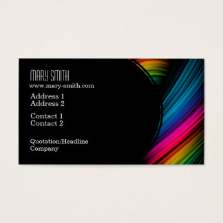 Elegant Abstract Spectrum Ribbons Business Card